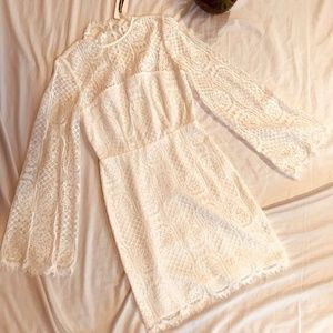 Dresses & Skirts - NWT- Bell Sleeve White Lace Dress- Size XSmall